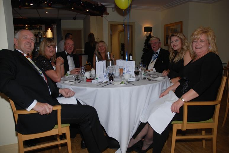 CHARTER DINNER 2015 - Old Rotarians could not believe their luck - to sit with the Glamour Girls!
