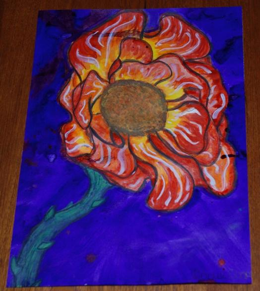 ROTARY YOUNG ARTIST 2015 -2016 - THE MIDNIGHT POPPY by Codie Cooper.
