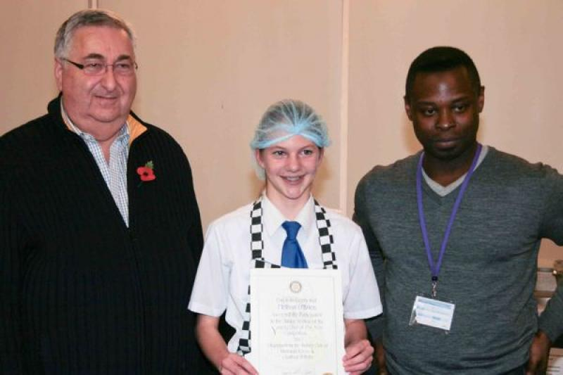 Young chef of the year, 8th November 2012 - Melissa O'Brien, runner-up in the Junior section.