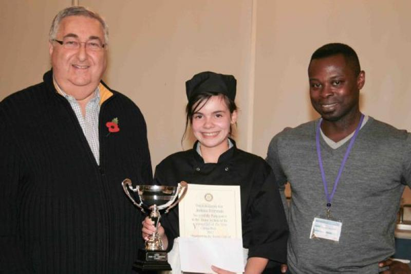 Young chef of the year, 8th November 2012 - Joanna Freeman, winner in the Junior section.