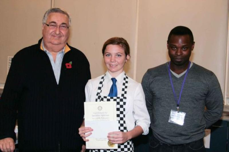 Young chef of the year, 8th November 2012 - Samantha Anderson, runner-up in the Senior section