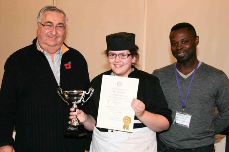 Young chef of the year, 8th November 2012 - Alice Brooks, winner in the Senior section.