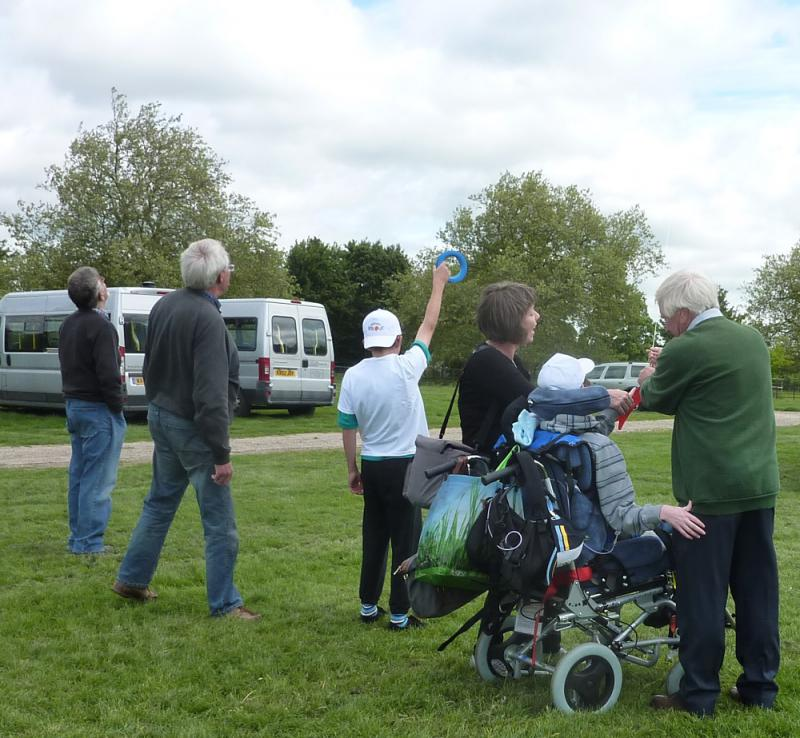Jun 2013 Kids Out Day at Wimpole Hall and Farm - 9 Kite flying was very popular!