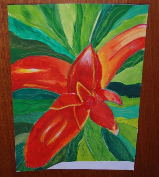 ROTARY YOUNG ARTIST 2015 -2016 - FIRE FLOWER by Ellie Humphries.