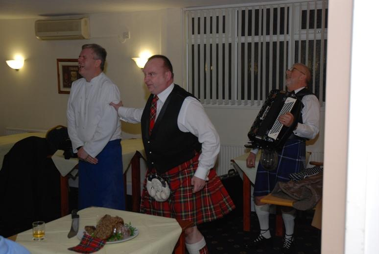 BURNS NIGHT - 2016 - Don't laugh Chef, he is not finished with the knife.