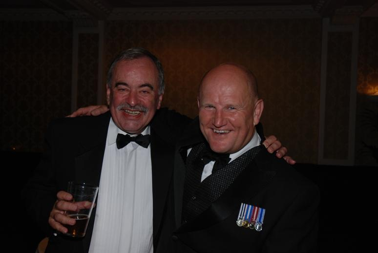 Gerry's Celebration Commemorative Dinner - The Chief met an old friend Paul Hayhurst.