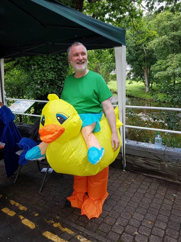 Presidents Welcome - At the charity duck race held in Betws y Coed in July 2016.