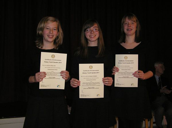 YOUTH SPEAKS 2010 - Chipping Norton School Team B: