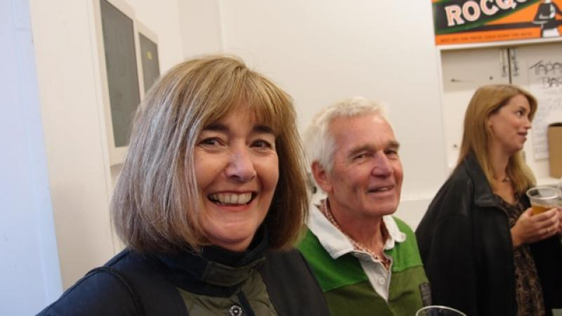 Cider Fields Tour with Gill Girard (September 2011) - Sue and Rob Whalley have obviously enjoyed the tasting!