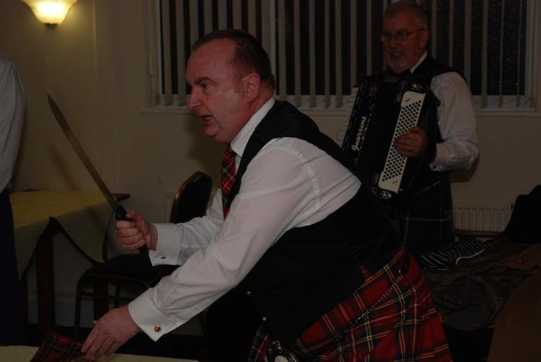 BURNS NIGHT - 2016 - He's a fearsome laddie.