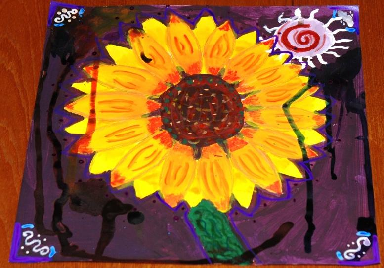 ROTARY YOUNG ARTIST 2015 -2016 - THE INKED SUNFLOWER by Elisha Daniels.