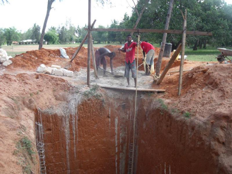 International Activities - Digging out the pit for a set of latrines