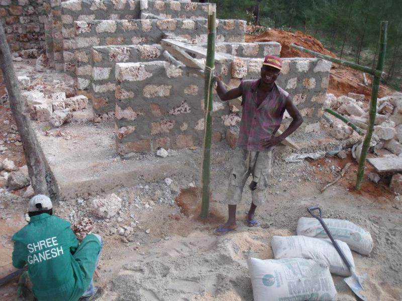 International Activities - Construction of the toilet block