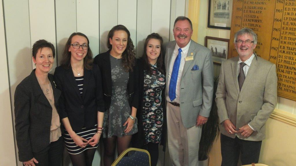 2015-16 Rotary Year - The 4 successful RYLA candidates pictured with organisers Rtn Steven Sherry & Rtn Don Carter from the Club Youth Committee