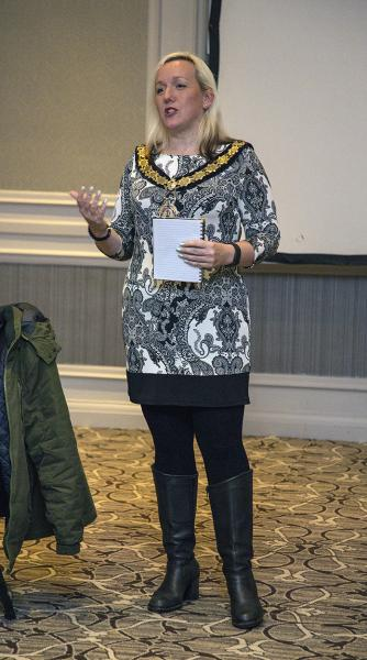 Talk by Nichola Dixon, Mayor of Thame - Photo: Ross Dike