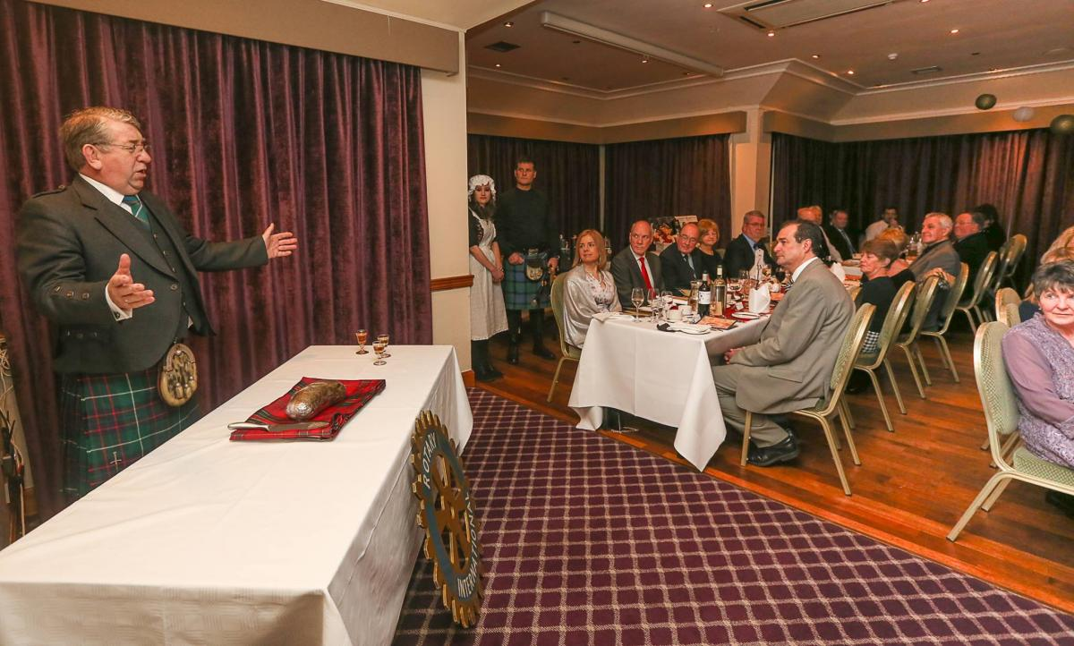 Burn Supper 2017 - Chairman David Wright with his address to the haggis
