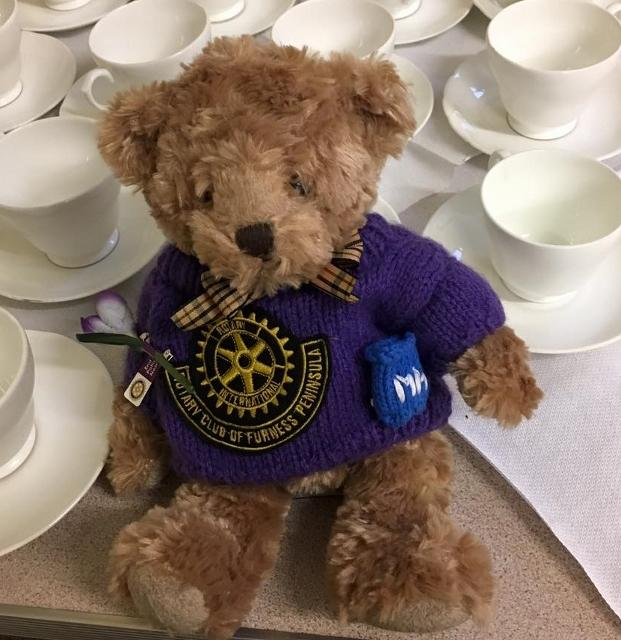 Reg the Roving Rotarian - Helping at the coffee morning