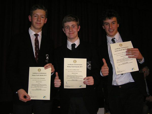 YOUTH SPEAKS 2010 - Bloxham School Senior Team: