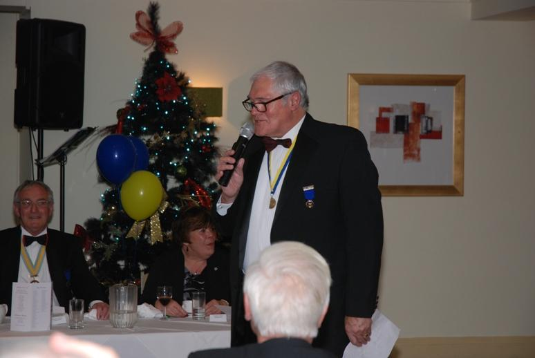 CHARTER DINNER 2015 - Jeff having a bit of fun with the 'Roll Call' of visiting Rotarians.