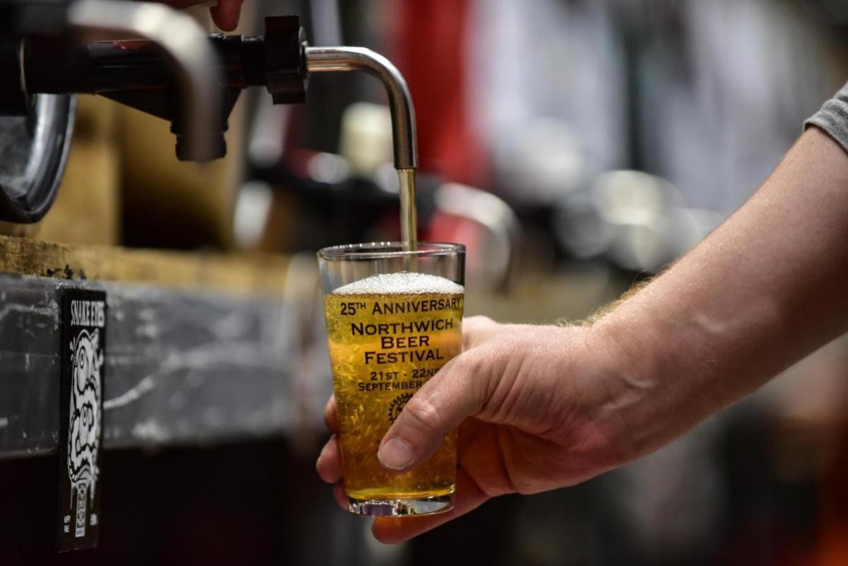 Northwich Beer Festival - 25th Anniversary glass gets put into action