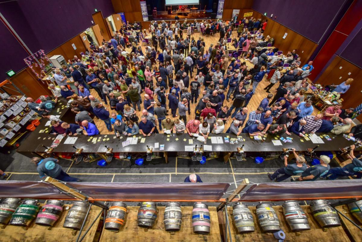 Northwich Beer Festival - Standing room only with some 470 supporters turning up on Friday and Saturday night