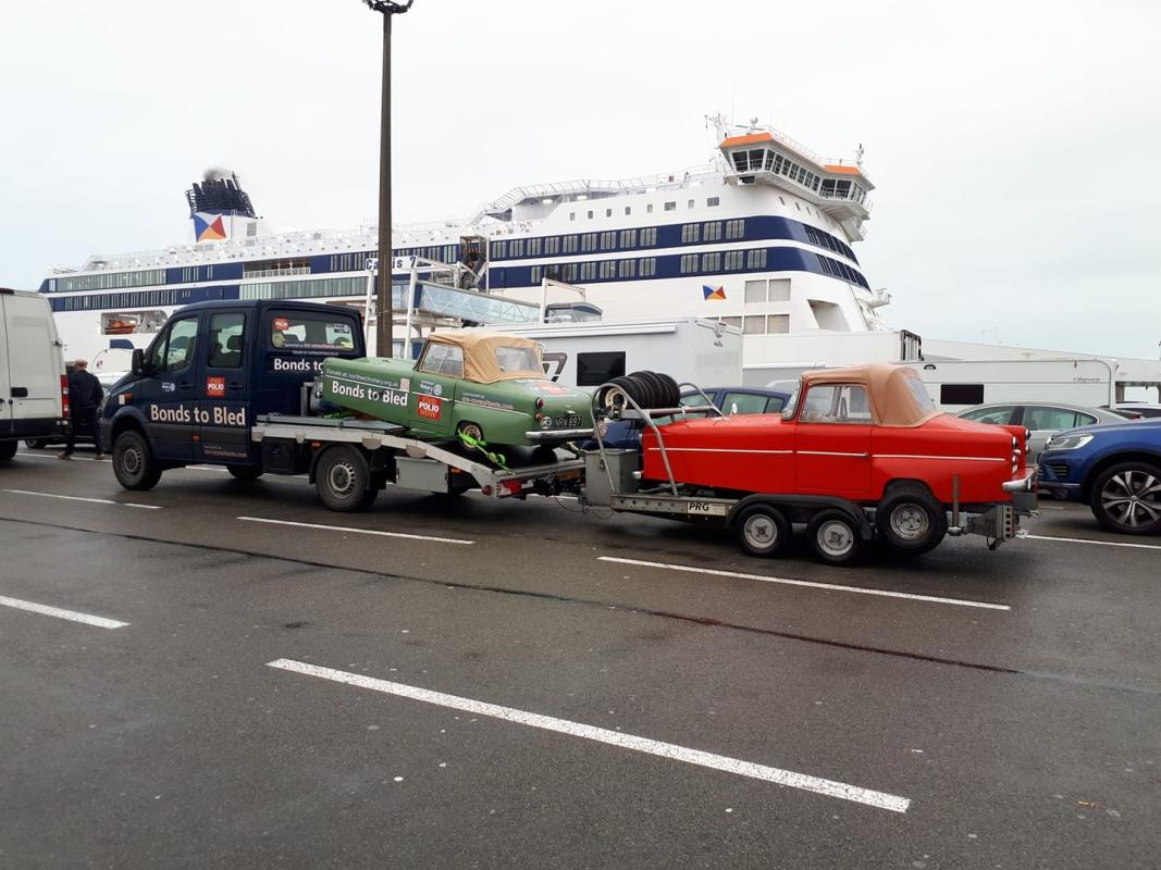 Bonds to Bled - All loaded up and ready for the channel ferry