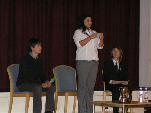 YOUTH SPEAKS 2010 - Chipping Norton School Senior Team C.