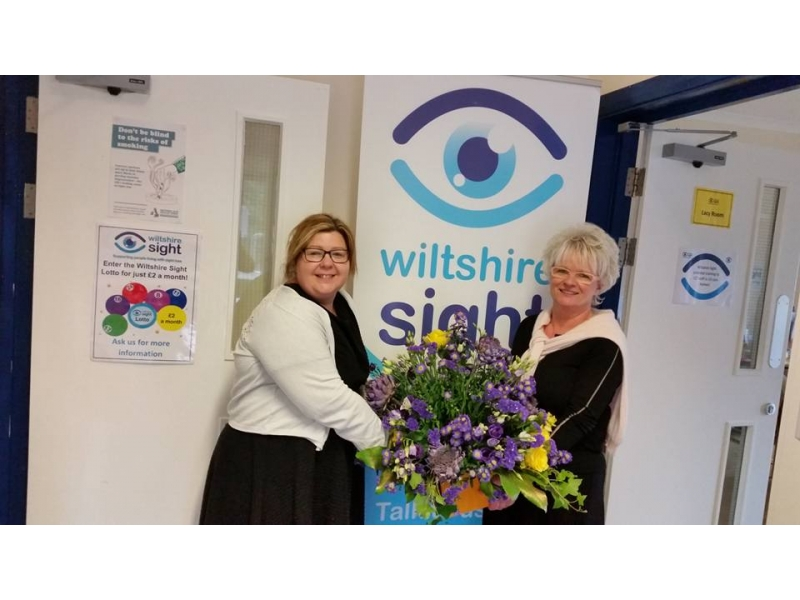 Flower Festival success - Donation to Wiltshire Sightn