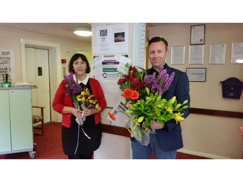 Flower Festival success - Donation to Brookside care home