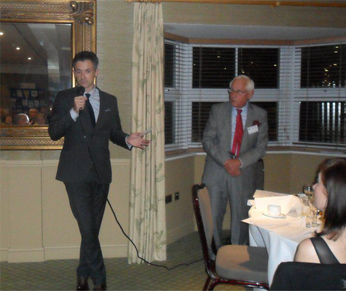Cheque Presentation Evening - 18th Sept. 2014 - Christian talks about Maggies