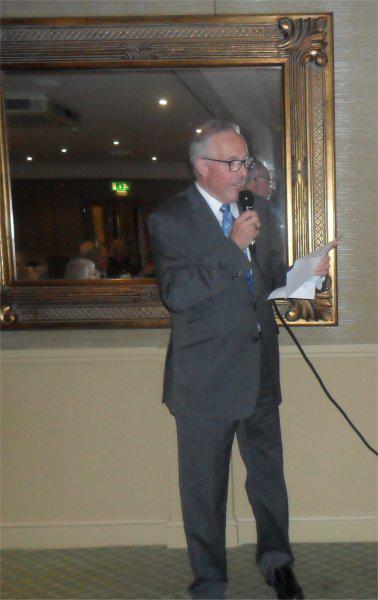 Cheque Presentation Evening - 18th Sept. 2014 - Paul Gwinn talking about Saint Francis Hospice