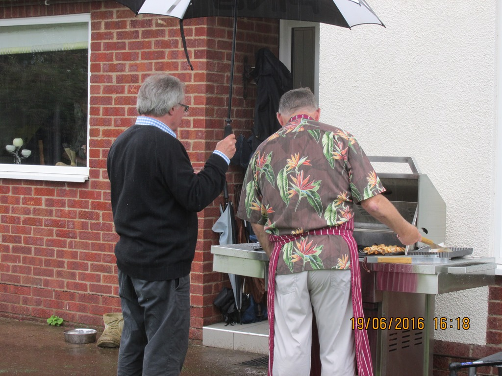 Visit from Odal Rotary Club, Norway - 19 BBQ time!