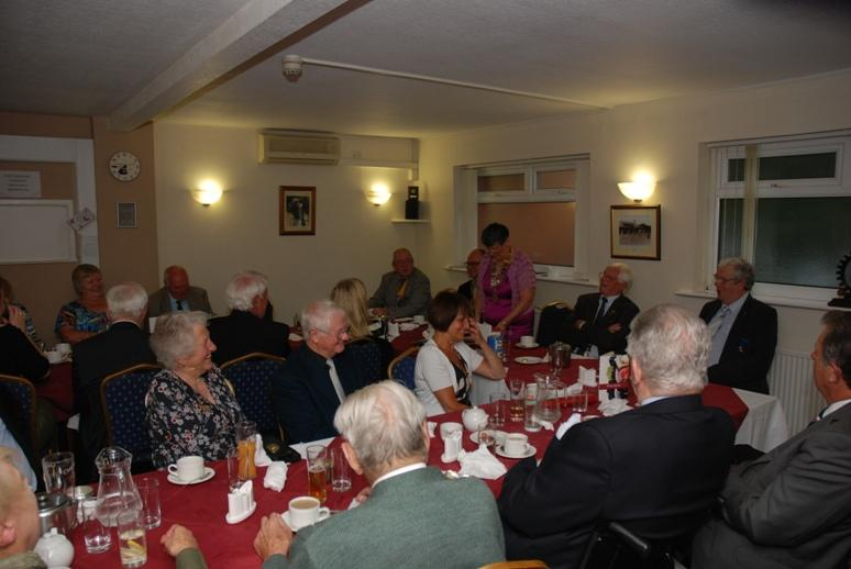 President Barbara takes over. - Barbara had the members and guests smiling.