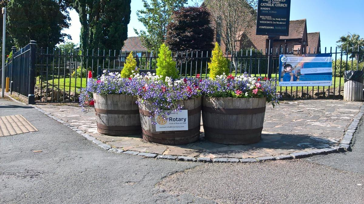 Ross-on-Wye Rotary Club Town Flower Display -