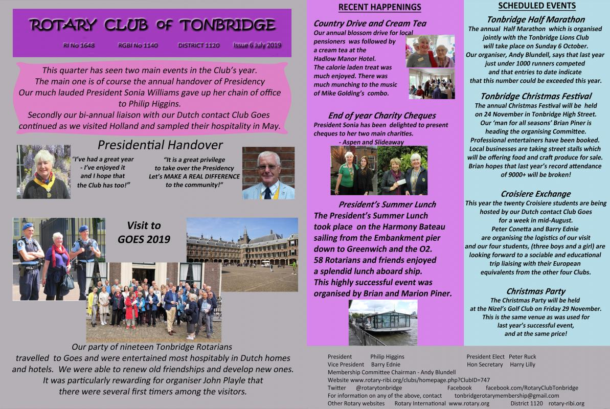 Tonbridge Rotary Newsletter -