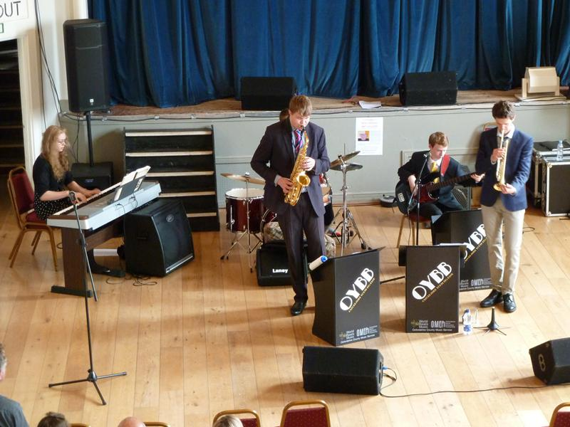 Chippy Jazz And Music 2014 - This excellent team were part of the Oxfordshire County Council's Music Service, and showed the standard of young musicians in the county.