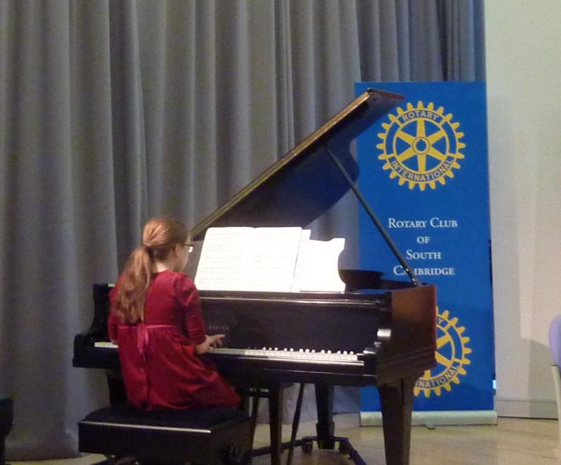 Feb 2013 Cambridge area Rotary Young Musician of the Year - Leys School, Cambridge  CB2 7AD - WINNER in the under 13yrs category - Christina Stuart