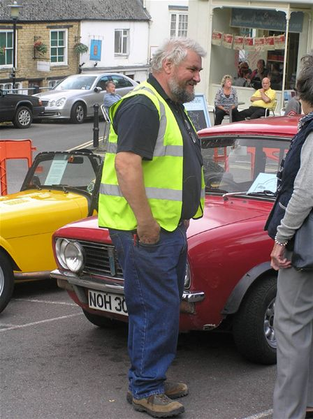 Chipping Norton Car Day - Dave Gordon - Car Day organiser and Mini fan