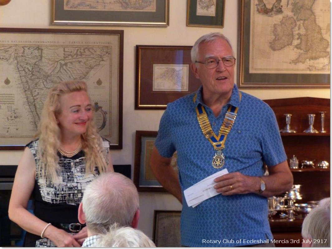 Sylvia Keris installed as Club President 2017/18 - Induction of Sylvia Keris as Club President for 2017/18