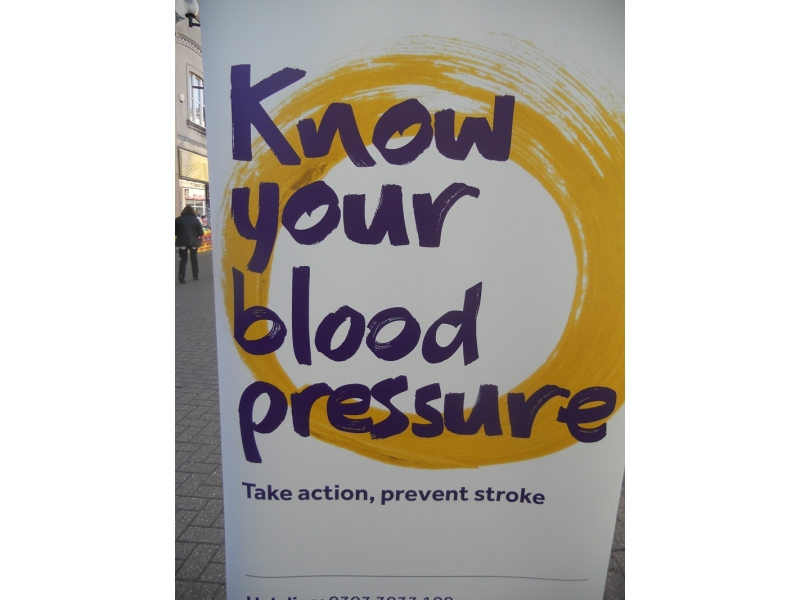Annual 'Know your Blood Pressure Day' - Stroke Awareness Banner