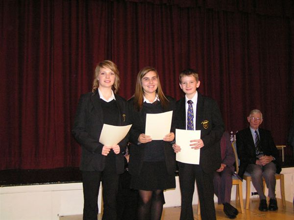 YOUTH SPEAKS 2010 - Warriner School Junior Team A: