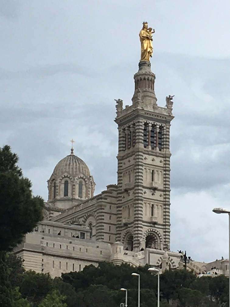 TuT International Visit 2019 - A view of Notre Dame de la Garde from below
