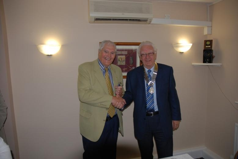 INDUCTION OF PRESIDENT ERIC HIND - 3RD JULY 2017 - Jeff receives his Past President's Jewel.