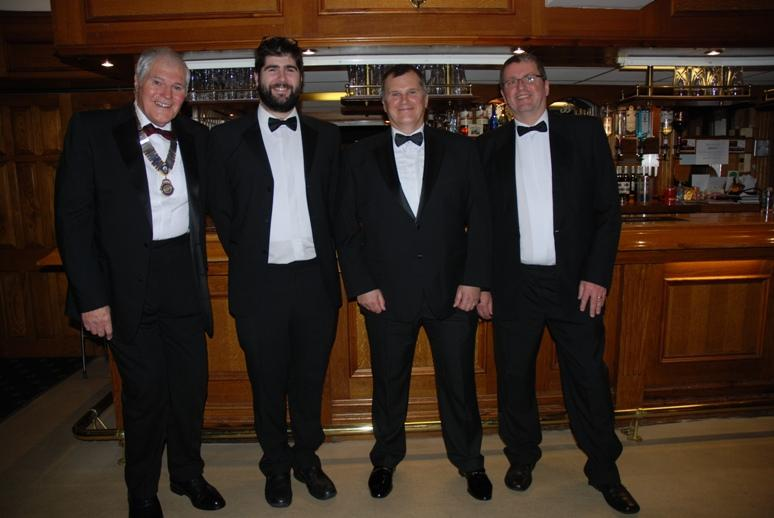 CHARTER DINNER 2016 - El Presidente Jeff with grandson Benjamin, Son Darren and friend Terry.