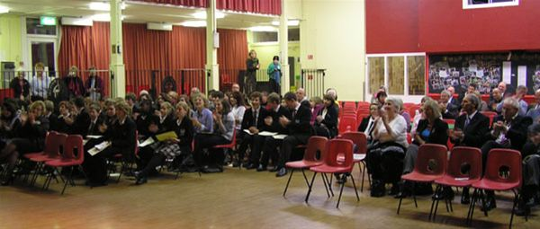 YOUTH SPEAKS 2010 - The audience and participators in Chipping Norton School Hall.
