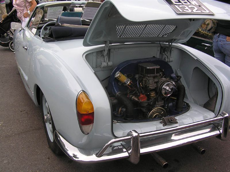 Chipping Norton Car Day - Is this a VW Karmann-Ghia, or is your luggage a  car engine.