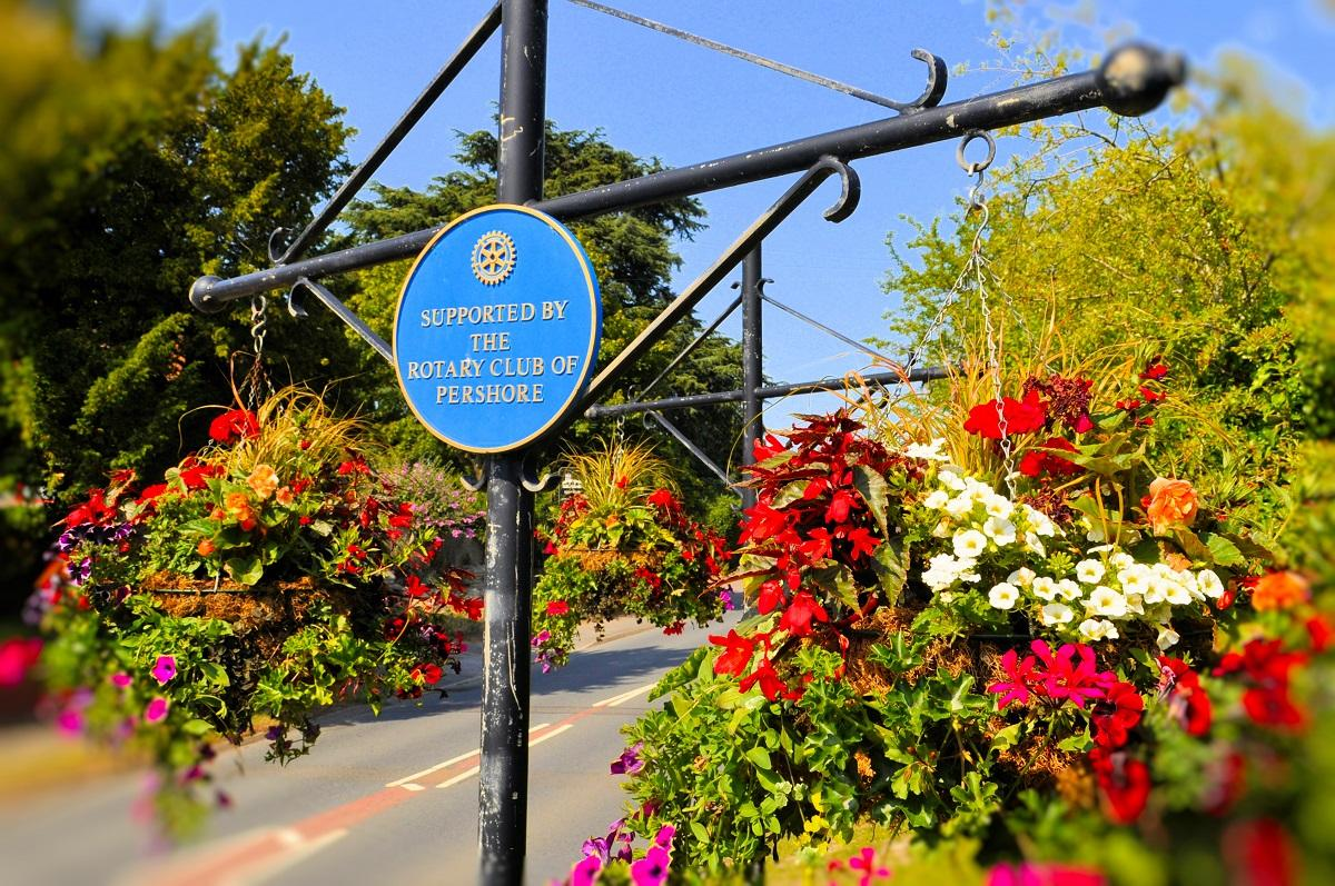 Celebrating Pershore in Bloom - Pershore Rotary supports Pershore in Bloom every year to help make Pershore a beautiful town to visit.