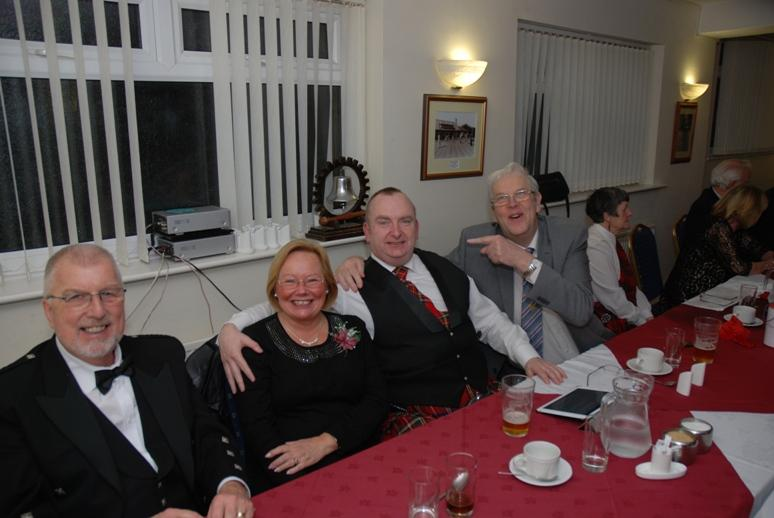 BURNS NIGHT - 2016 - Ron may have his arm on Alf's shoulder but Alf has his arm around 