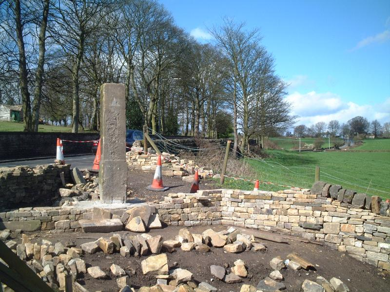 Calverley Millennium Way - The monument in its early stages