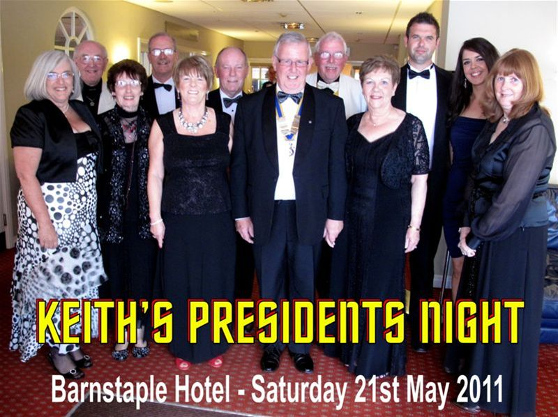 PRESIDENT KEITH ROGERS PRESIDENT'S NIGHT 21st MAY 2011 -